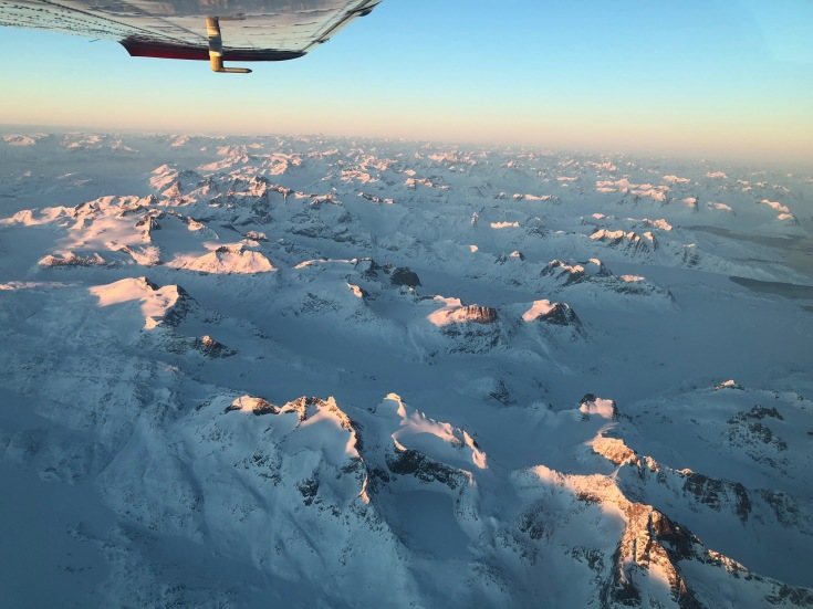 The east coast of Greenland. The picture doesn't do it justice.