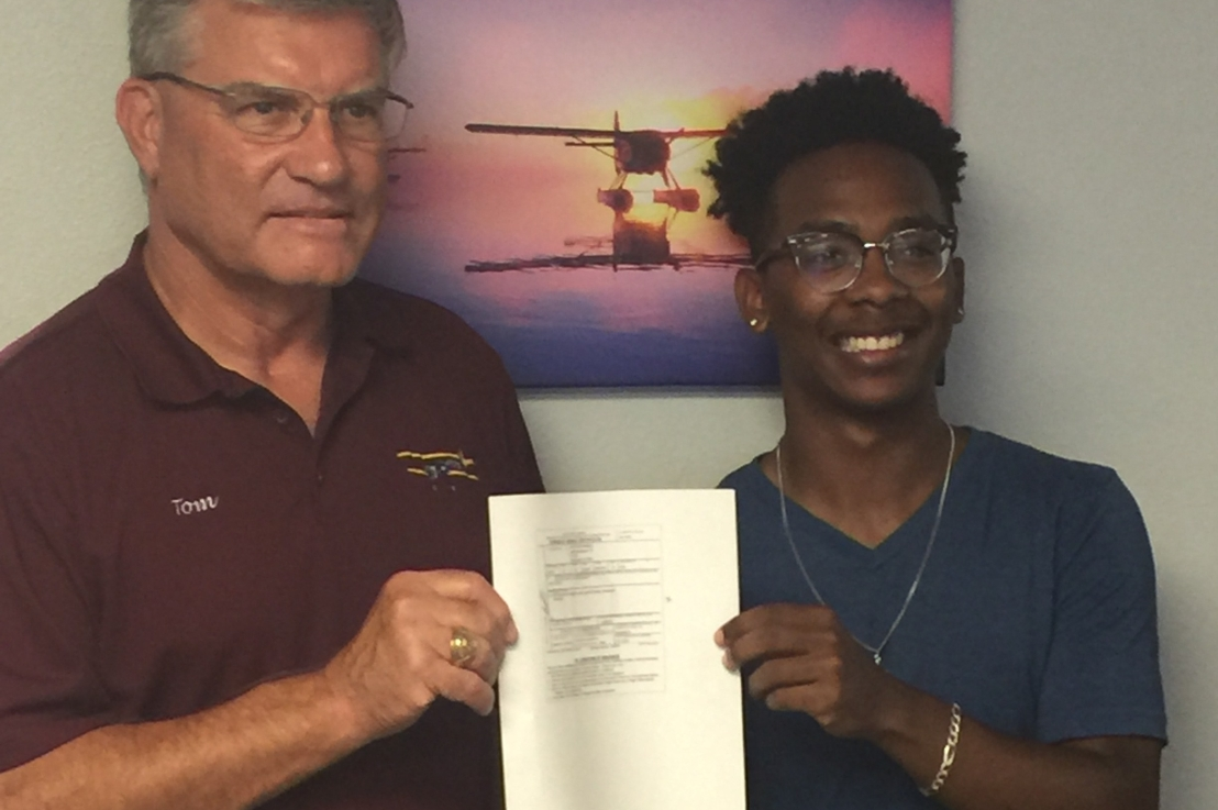 Jaylon Joins the Family of Aviators