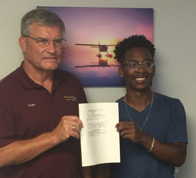 Jaylon obtains his private certificate!
